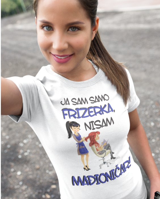 Smiješna majica frizerka mađioničar