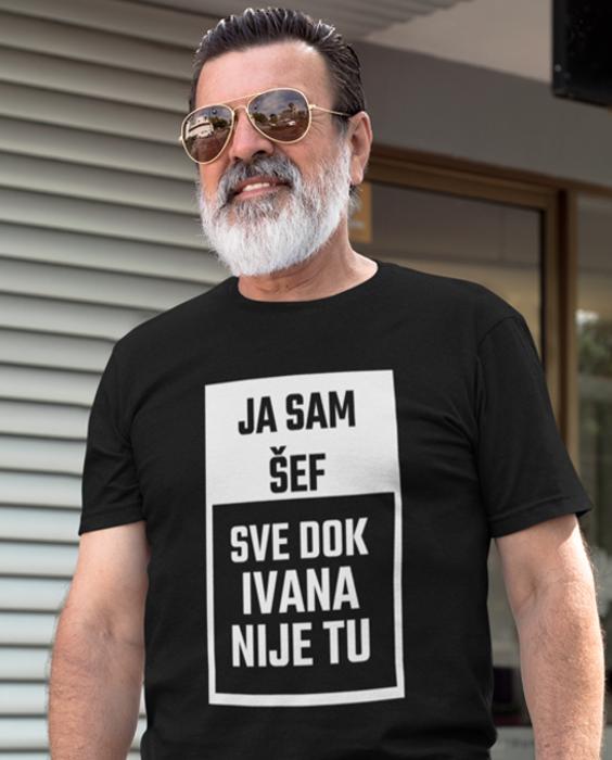 Smiješna majica ja sam šef