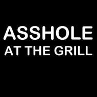 Zabavna pregača asshole at the grill