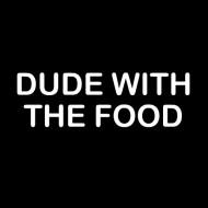 Zabavna pregača dude with the food