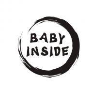 Majica za trudnice baby inside krug