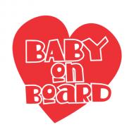Majica za trudnice baby on board srce