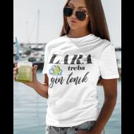 Smiješna majica treba gin tonik