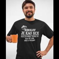 Smiješna majica ribolov je kao sex