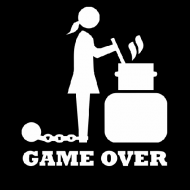 Smiješna majica game over kuhinja