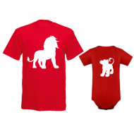 Komplet bodi i majica Lav lavić