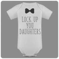 Dječji bodi lock up your daughters