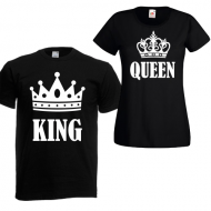 Majice king queen - 2 KOM