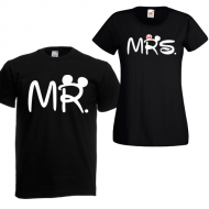 Majice Mr Mrs - 2 KOM