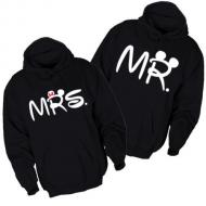 Majice sa kapuljačom za parove Mr Mrs - 2 KOM