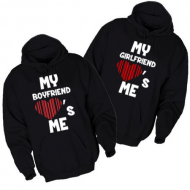 Majice sa kapuljačom za parove My boyfriend girlfriend loves me - 2 KOM