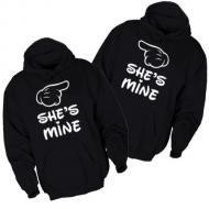 Majice sa kapuljačom she`s mine - 2 KOM