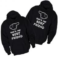 Majice sa kapuljačom she`s my best friend - 2 KOM