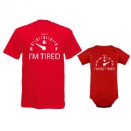 Komplet bodi i majica Tired - Not tired