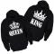 Majice sa kapuljačom za parove King Queen - 2 KOM